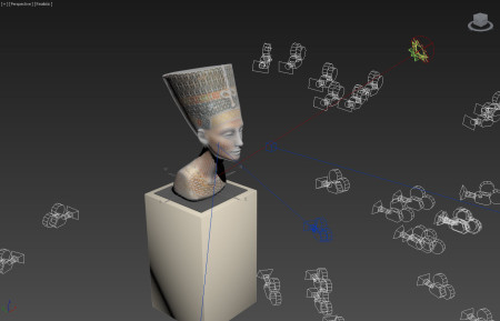 שלב בהכנת מודל התלת-ממד של פרוטומת נפרטיטי. תמונה: פול דוקרטי