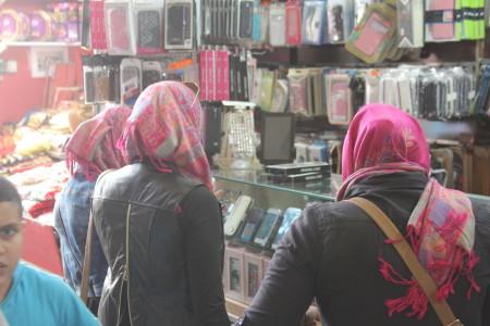 נשים בשוק העיר העתיקה במזרח ירושלים. צילום: עידו קינן