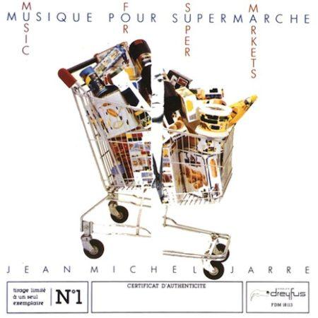 """עטיפת האלבום """"Musique Pour Supermarché"""" (מוזיקה לסופרמרקטים) של ז'אן-מישל ז'אר"""