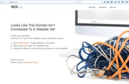 אתר הרשת hazanoren.co.il עם הודעת שגיאה של וויקס, 2.5.2016