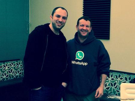 בראיין אקטון ויאן קום, מייסדי וואטסאפ. צילום: סקויה קפיטל, cc-by-sa