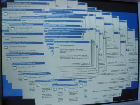 קריסה של דפדפן אינטרנט אקספלורר. Alexander Johmann (cc-by-sa)