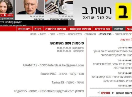 כתבה באתר רשת ב' עם שמות המשתמש והסיסמאות של חשבונות הרשתות החברתיות של רשת ב'