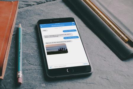 אפליקציית הצ'ט סיגנל. תמונה: אתר סיגנל