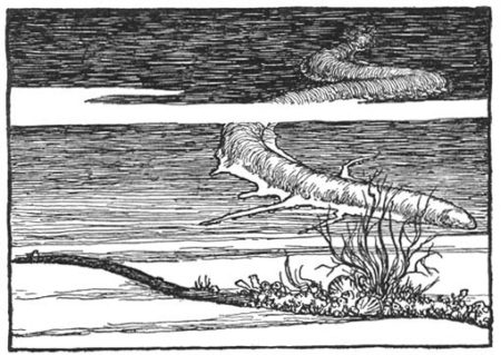 איור לשיר The Deep-Sea Cables של רודיארד קיפלינג. תמונה: W. Heath Robinson (נחלת הכלל)