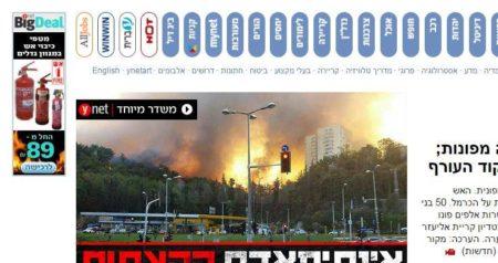 אינטרטקסטואליות: כתבה בוויינט על שריפה ופרסומת למטפים מ-ynet big deal