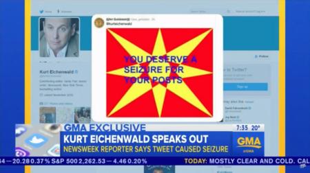 הציוץ האפילפטוגני ש-@jew_goldstein צייץ לקורט אייכנוולד, בדיווח בלעדי של גוד מורנינג אמריקה