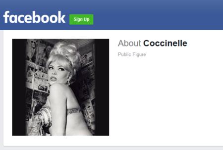 דף שפייסבוק יצרה אוטומטית על הזמרת קוקסינל