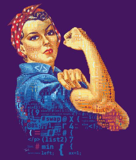רוזי המתכנתת. תמונה: חאריס טסוויס (cc-by-nc-nd)