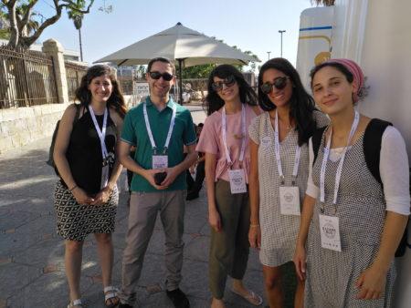 משתתפים באוטובוס הבריחה של גוגל ישראל. צילום: עידו קינן, חדר 404