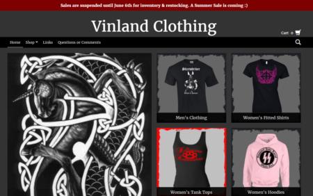 אתר האופנה הנאצית Vinland Clothing