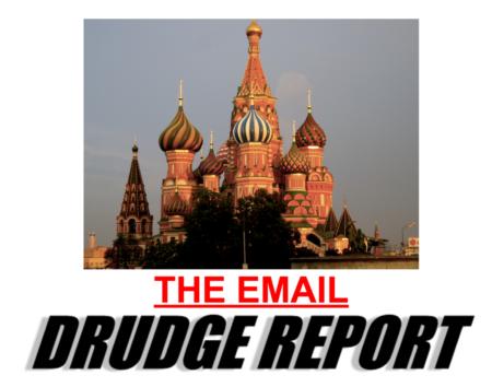 """""""THE EMAIL"""", הכותרת בדראדג' ריפורט על האימייל שדונלד טראמפ ג'ונייר קיבל על המידע שהעו""""ד מטעם הקרמלין ביקשה להעביר לו, 7/2017"""