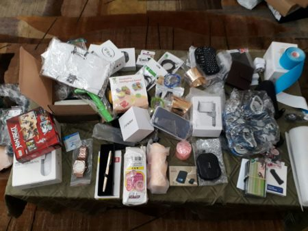 Alleged stolen items. Photo: Israel Police Spokesperson