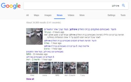 סרטון התקיפה באיכילוב באתרי החדשות בגוגל ניוז
