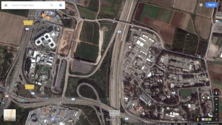 שטח האדמה 📷 גוגל מפות