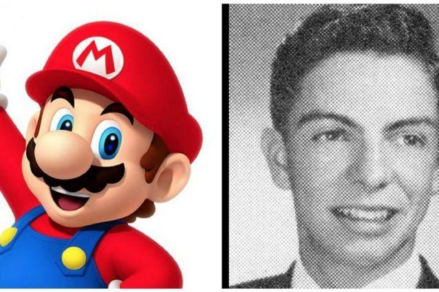 מריו ארנולד סיגלי ומריו מריו, דמות משחקי הווידאו שנקרא על שמו 📸 JohnnyRRusso cc-by-sa; נינטנדו