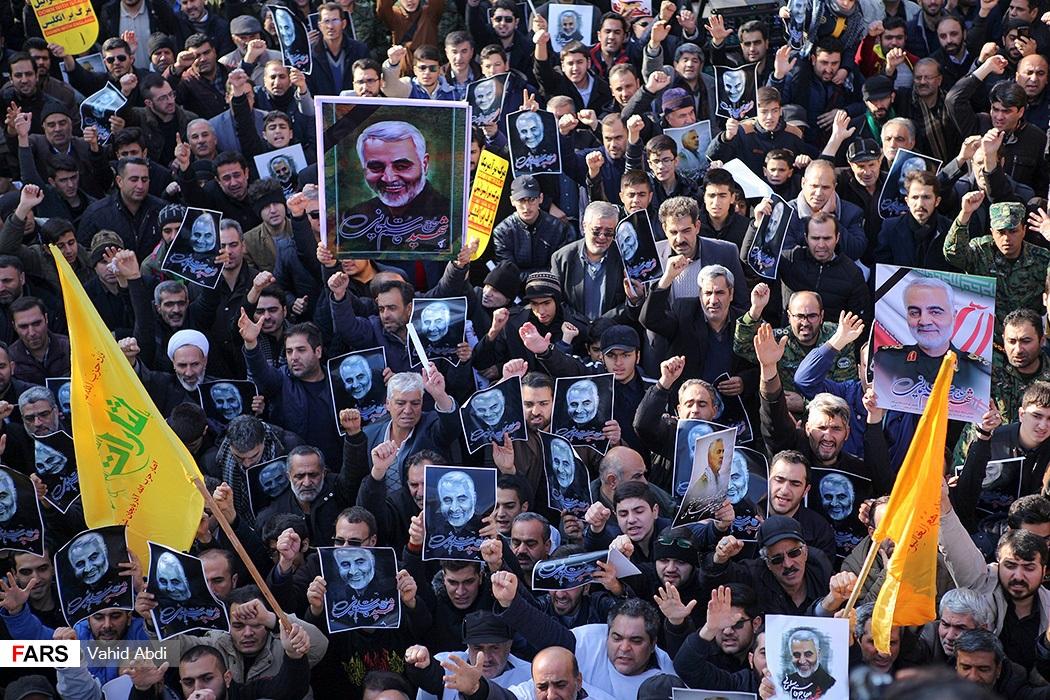 הפגנה באיראן במחאה על חיסול קאסם סולימאני 📸 ואהיד עבדי, فارس (cc-by)