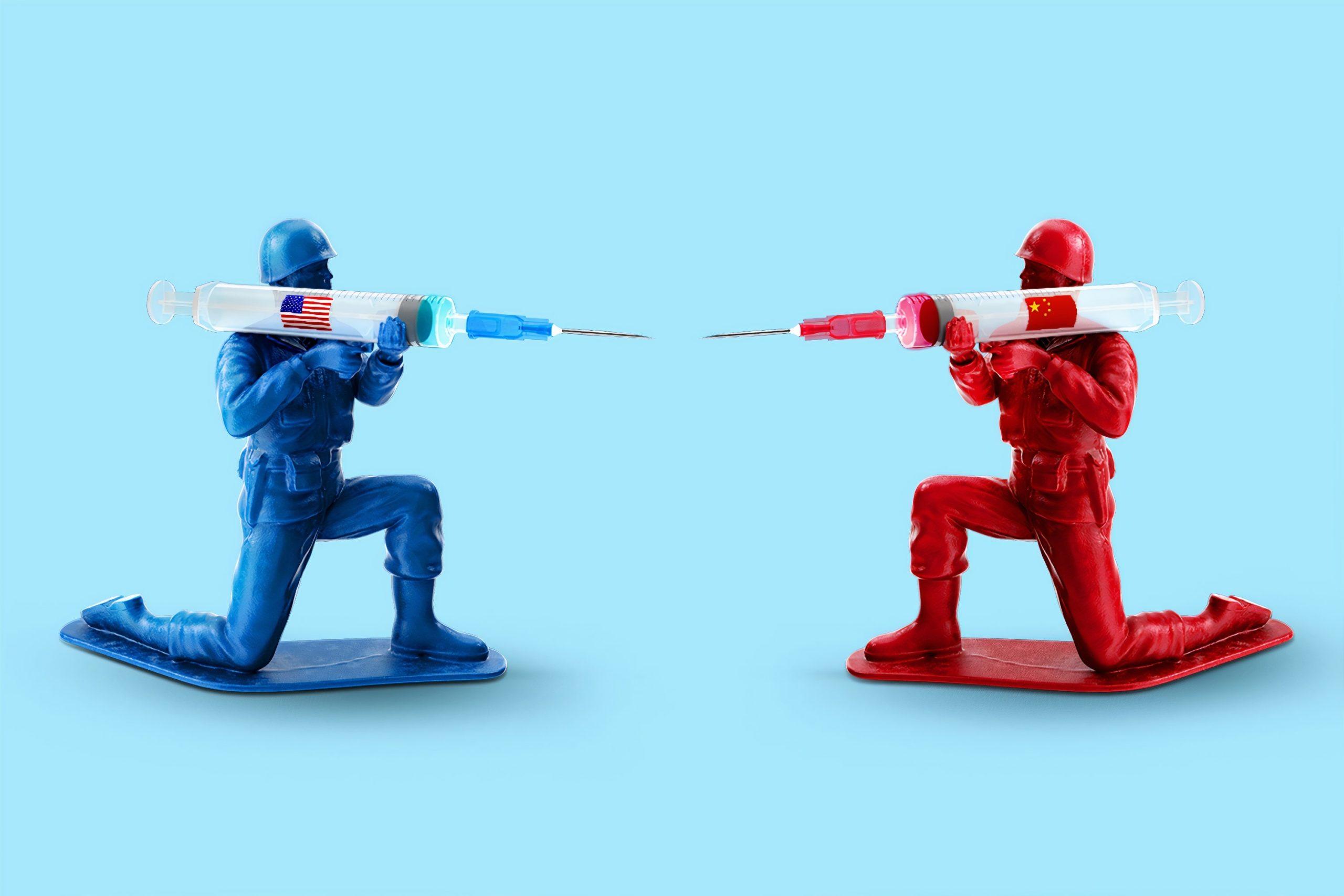 """מלחמת חיסונים בין סין לארה""""ב"""