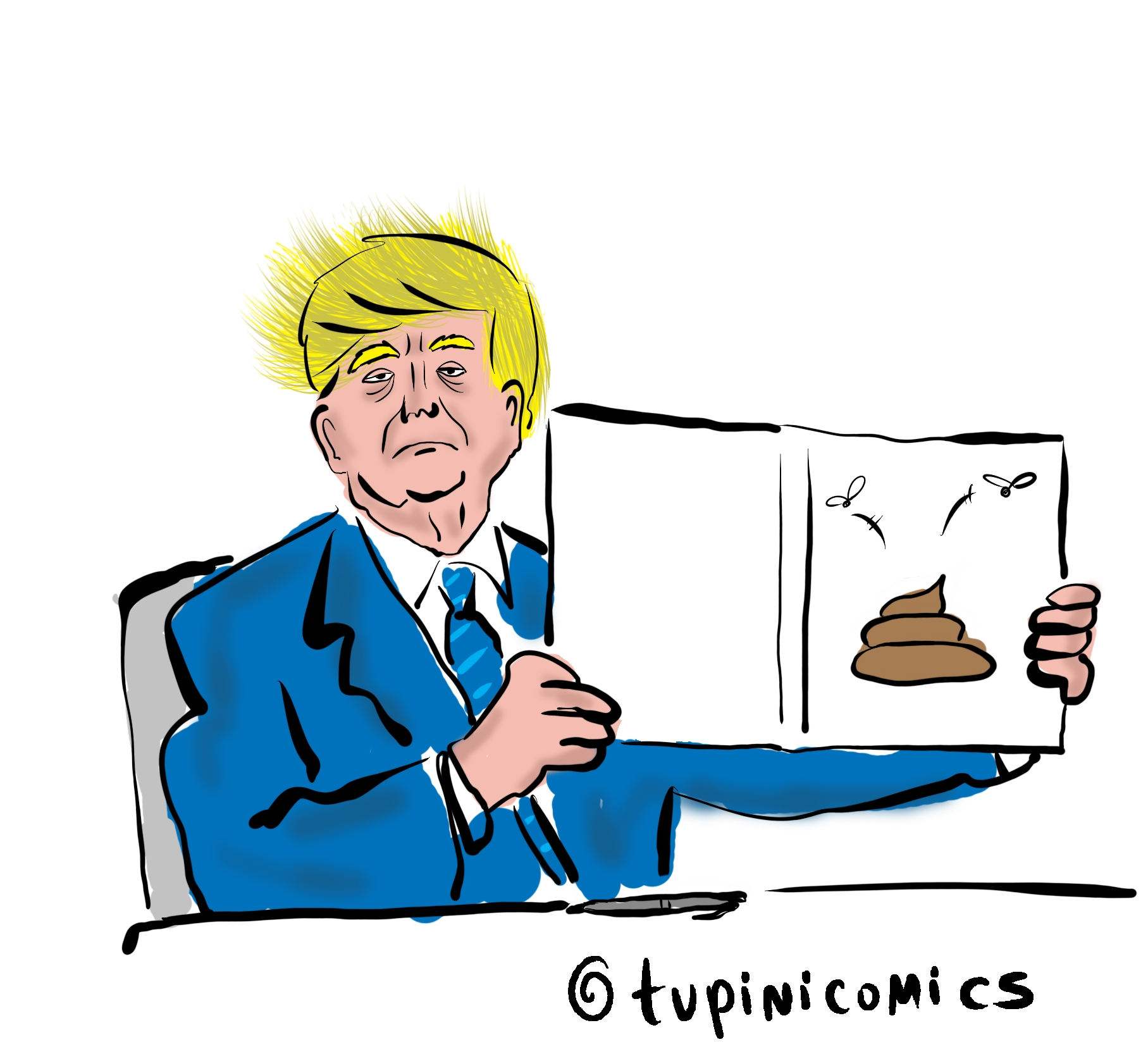 "נשיא ארה""ב דונלד טראמפ 🖼️ Tupinicomics cc-by"