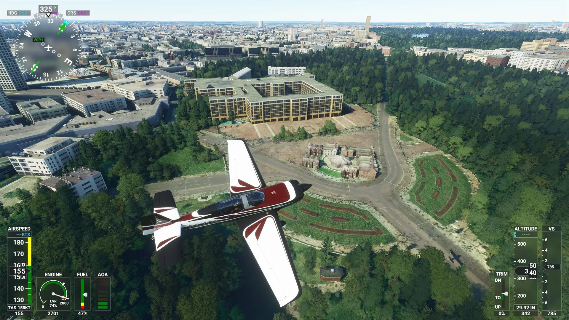 ארמון בקינגהם הפך לבנייני משרדים בסימולטור הטיסה של מיקרוסופט 2020