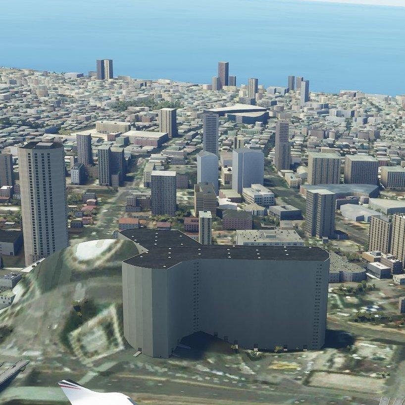 תל אביב בסימולטור הטיסה של מיקרוסופט 2020